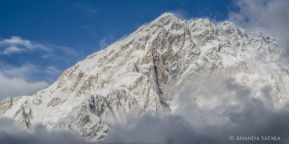 """Mysterious Emergence"" clearing skies in the Himalayas, near Lobuche, Nepal, April 2012"