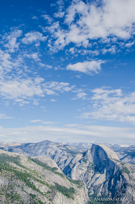 """Flying"" view of Half Dome from El Capitan, Yosemite National Park"