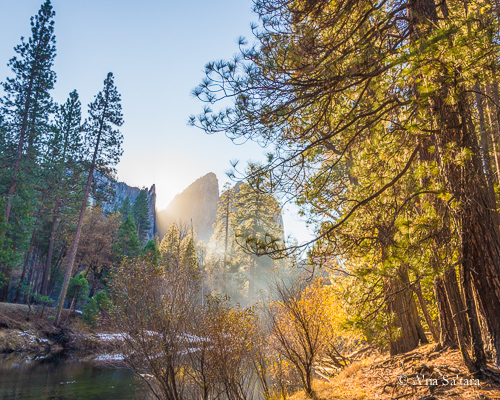 Yosemite Valley autumn Merced River