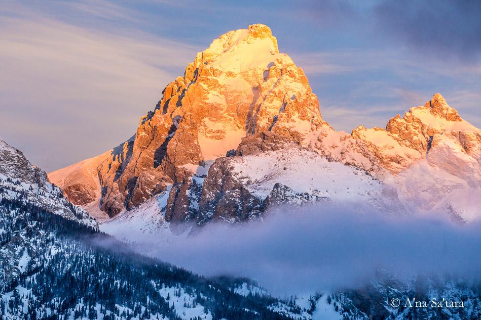 Grand Tetons Sacred Geometry sunrise