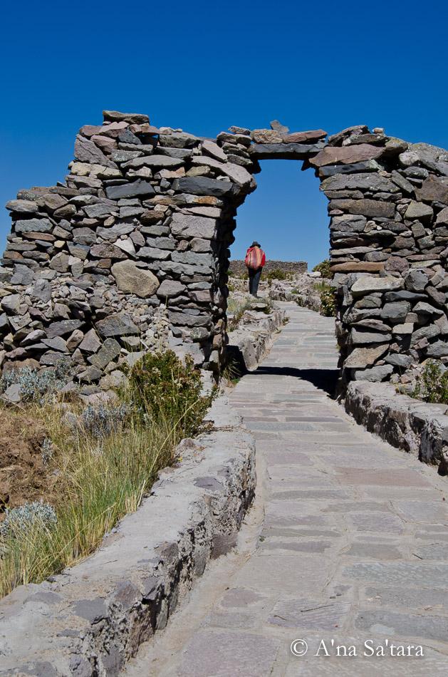 Temple of Pachatata Amantani Island Lake Titicaca Peru Ley Line